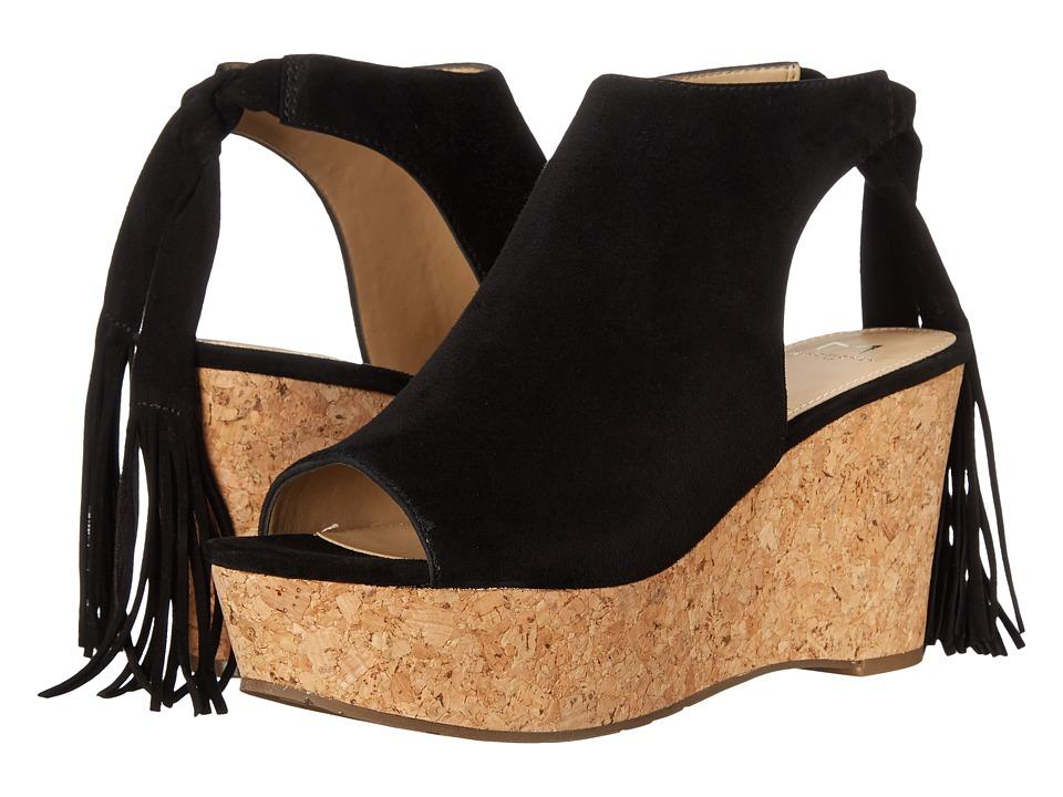 Marc Fisher LTD - Sueann (Black Suede) Women's Wedge Shoes