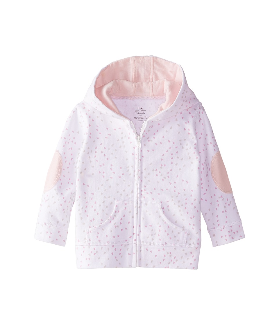 aden + anais - Hoodie (Infant) (Lovely Mini Hearts) Kid's Sweatshirt