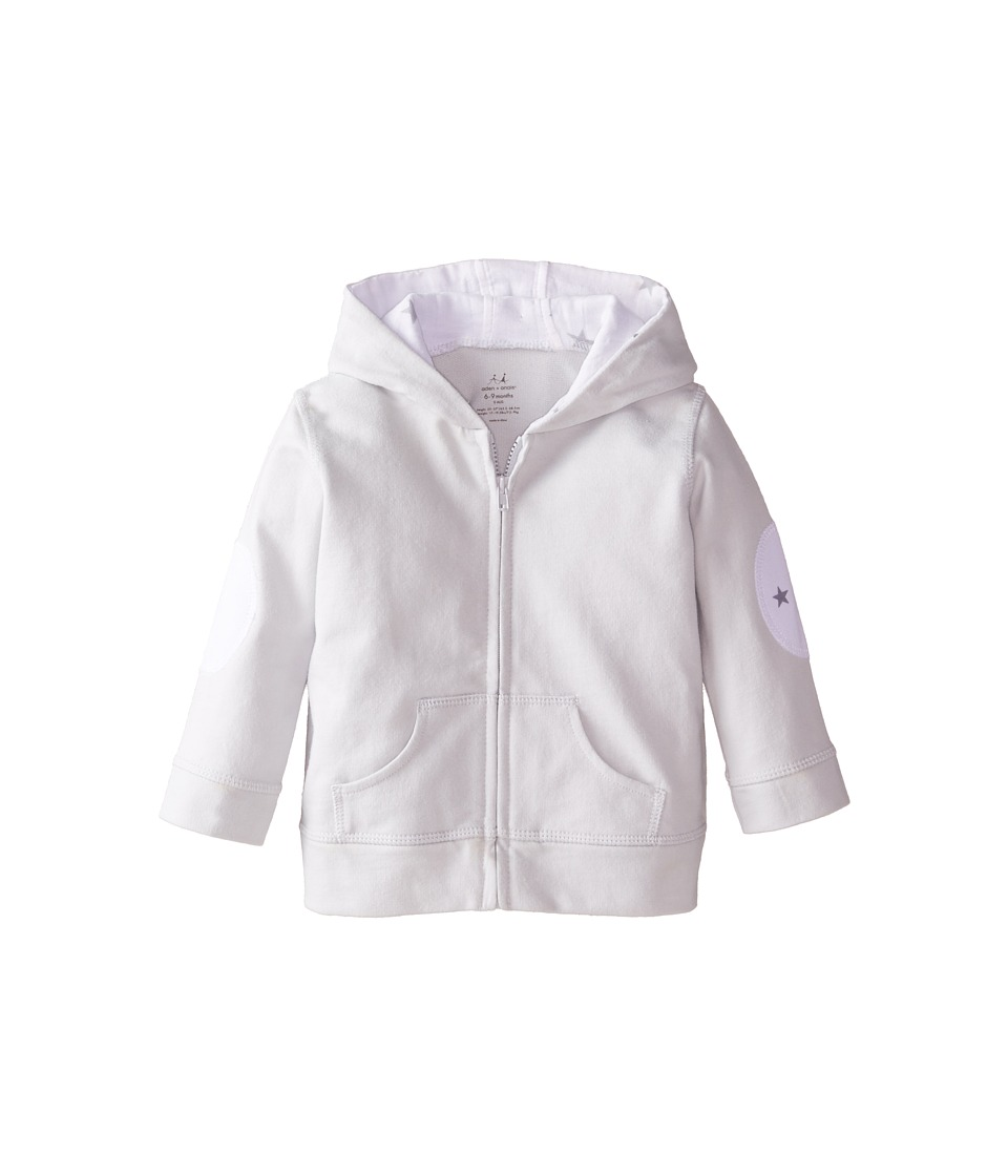 aden + anais - Hoodie (Infant) (Silver) Kid's Sweatshirt