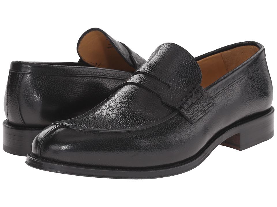 Crosby Square - Peck (Black Pebble Grain) Men's Slip on Shoes