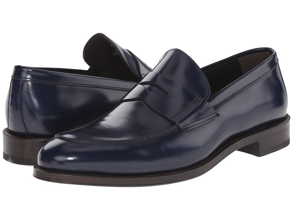 Crosby Square - Burtson (Navy High Shine) Men's Slip on Shoes