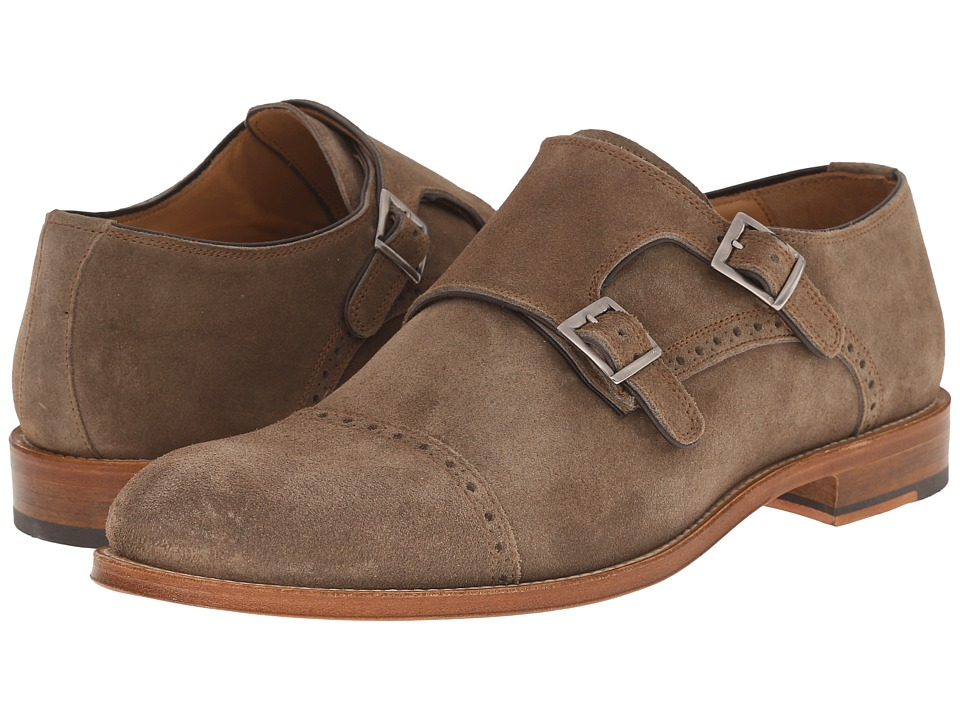 Crosby Square - Allen (Light Brown Suede) Men's Slip on Shoes