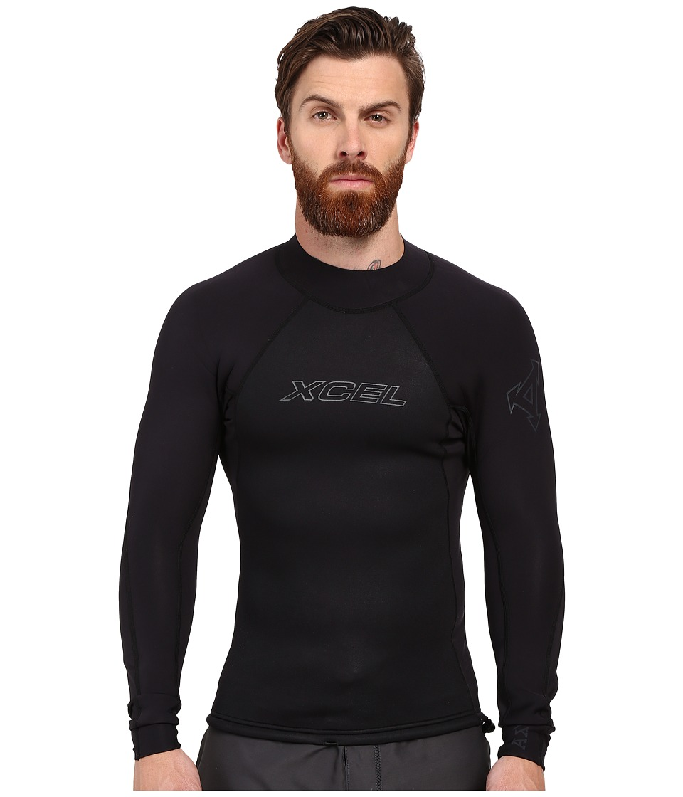 XCEL Wetsuits - 2/1mm Axis Long Sleeve Top (Black) Men's Swimwear