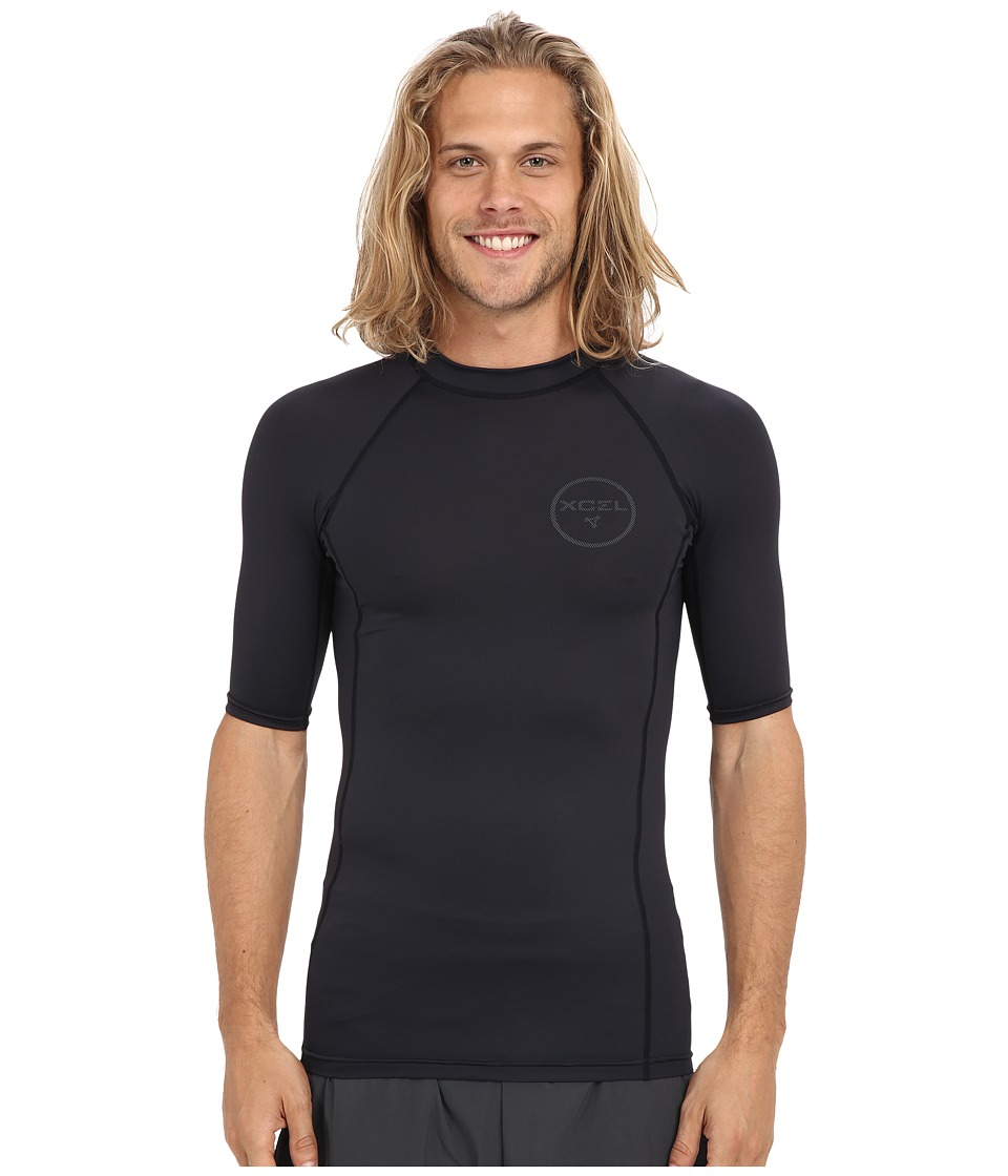 XCEL Wetsuits - Kewalos UV Short Sleeve (Black) Men's Swimwear