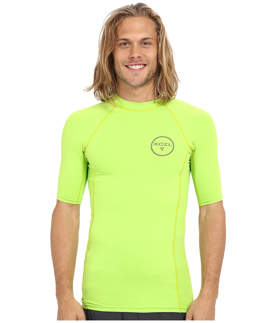 XCEL Wetsuits - Kewalos UV Short Sleeve (Green Apple) Men's Swimwear