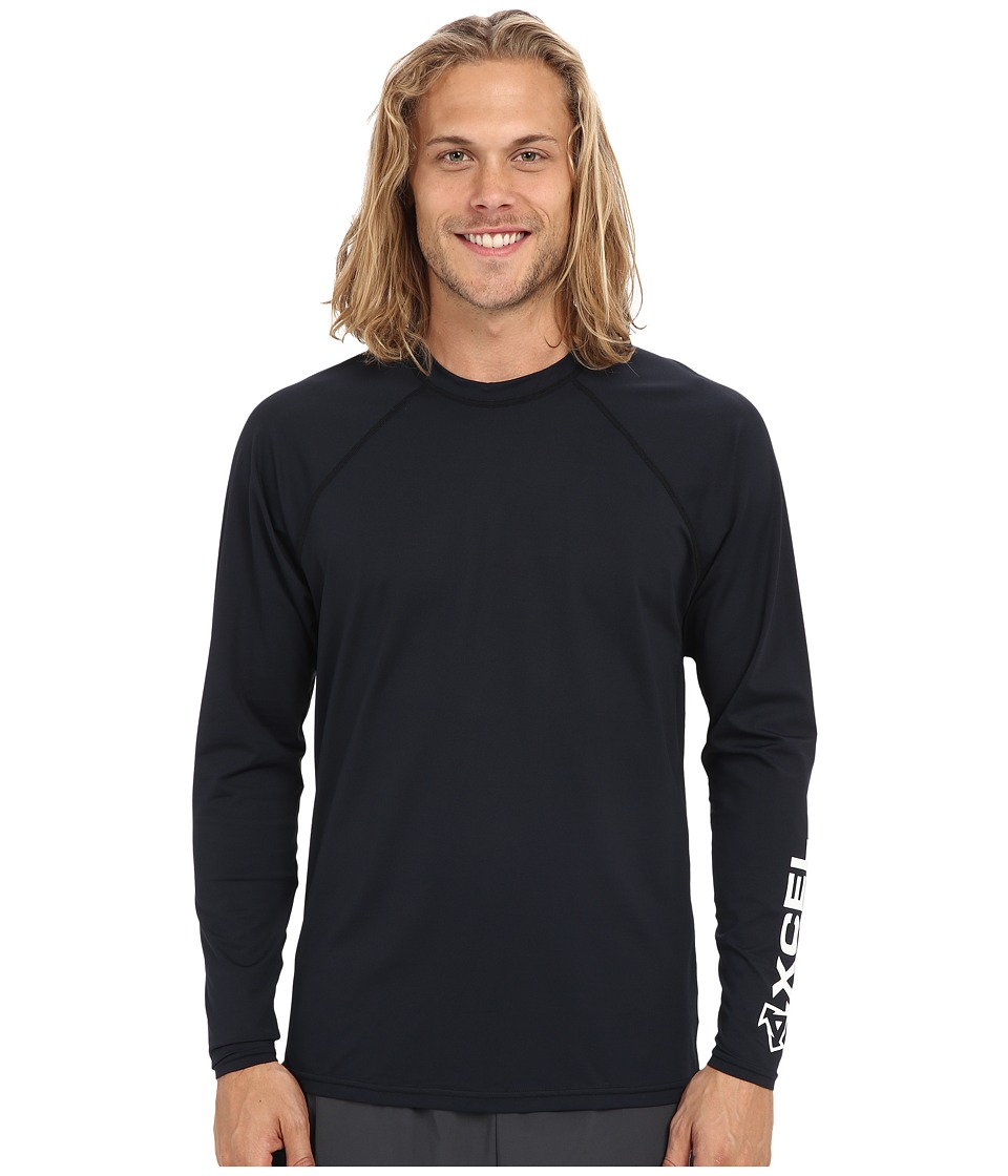 XCEL Wetsuits - Signature L/S VENTX UV (Black) Men's Swimwear