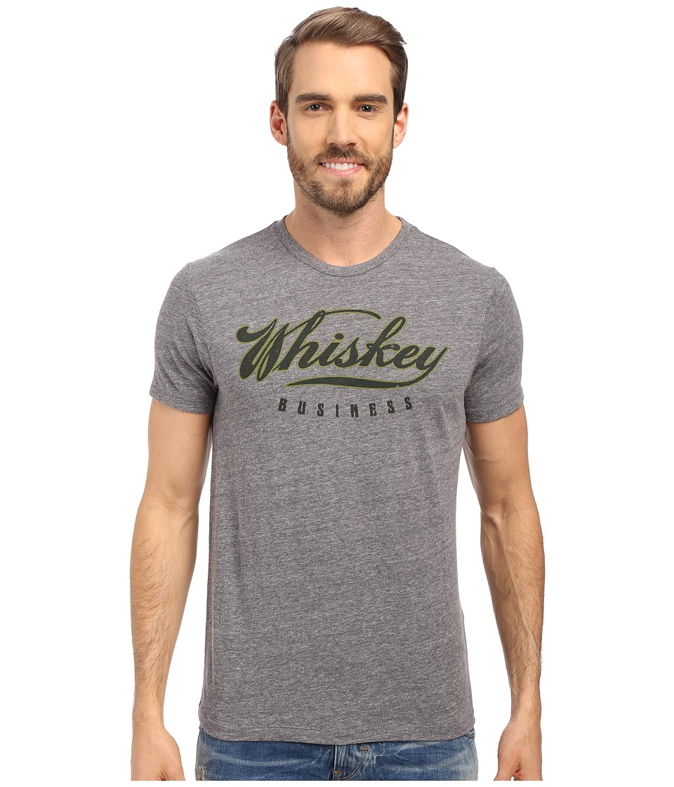Lucky Brand - Whiskey Business Graphic Tee (Triblend Grey) Men's T Shirt