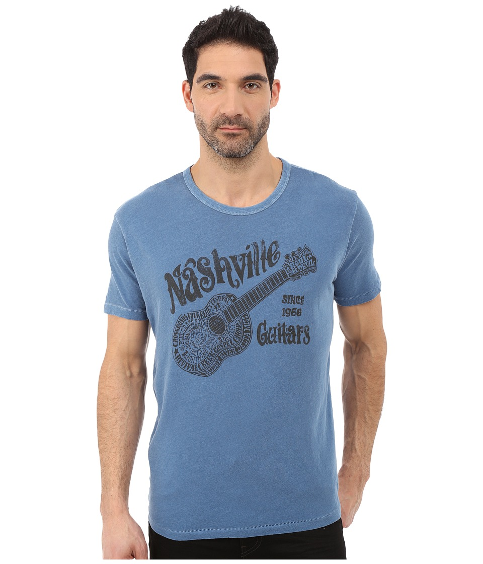 Lucky Brand - Nashville Guitars V Graphic Tee (Federal Blue) Men's T Shirt