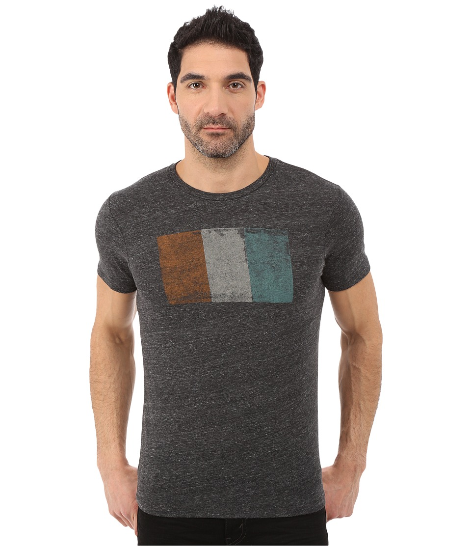 Lucky Brand - Irish Flag Graphic Tee (Onyx) Men's T Shirt