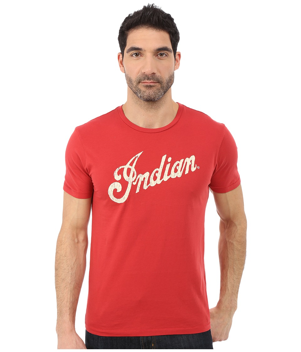 Lucky Brand - Indian Logo Alone Graphic Tee (Pomeian Red) Men's T Shirt