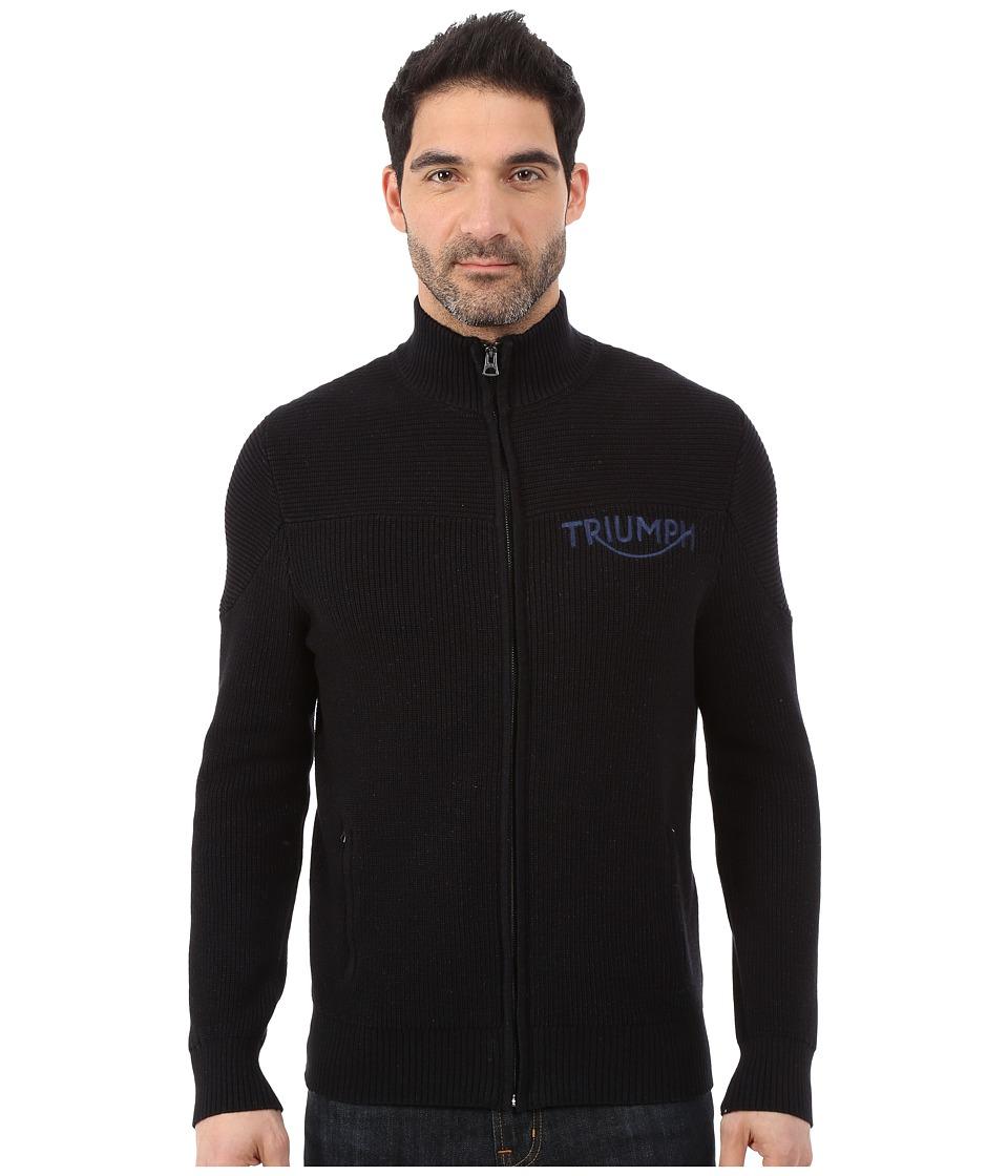 Lucky Brand - Moto Mock (Indigo) Men's Sweater