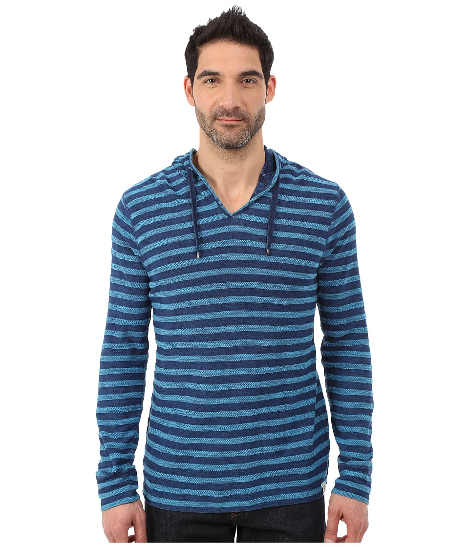 Lucky Brand - Novelty Hoodie (Indigo Stripe) Men's Sweatshirt