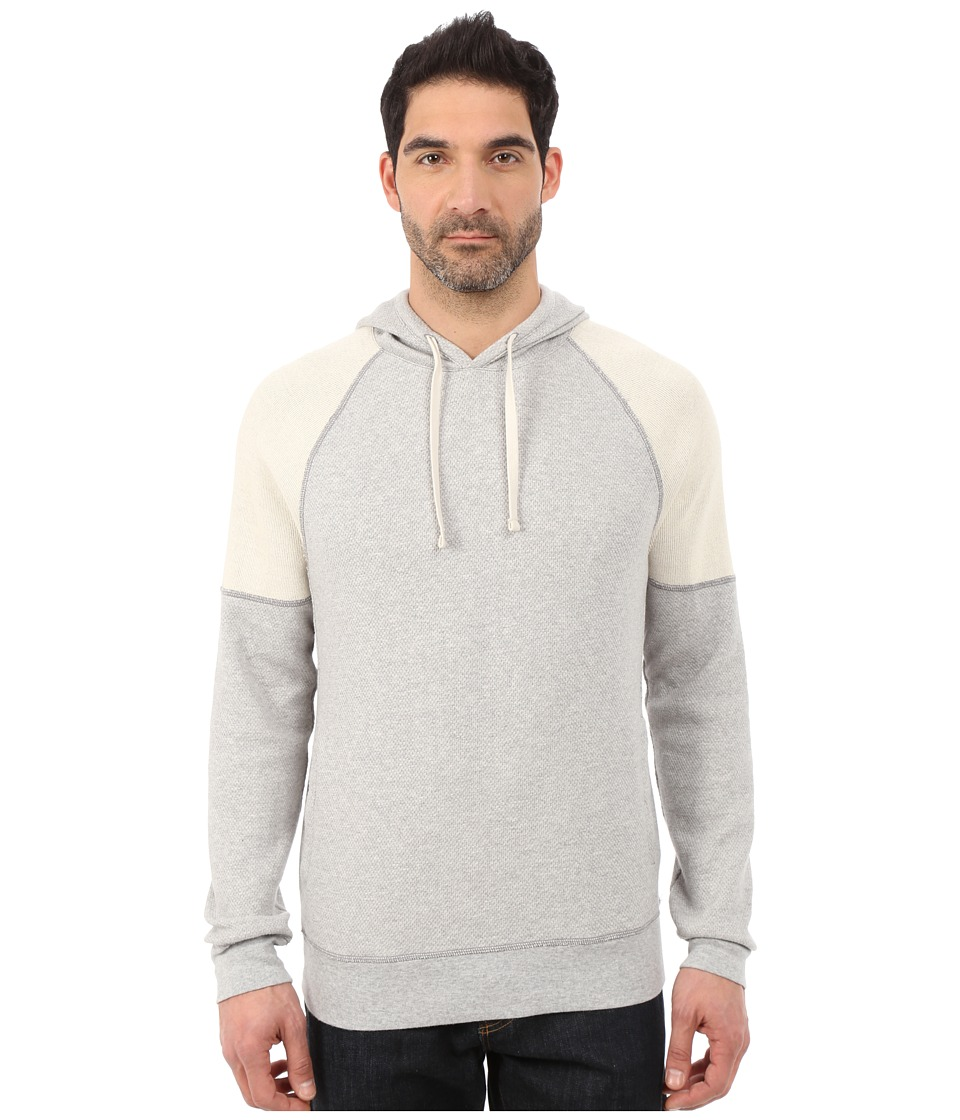 Lucky Brand - Label Hoodie (Grey) Men's Sweatshirt