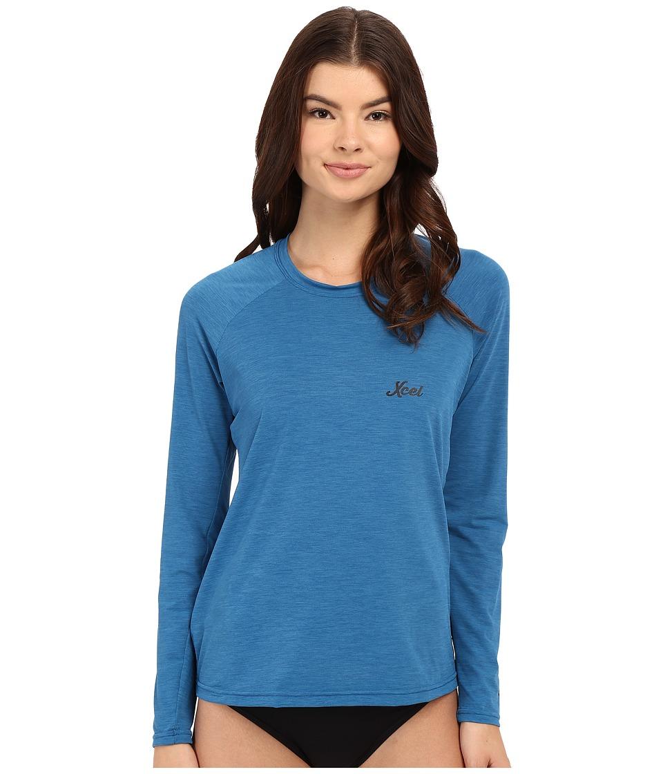 XCEL Wetsuits - Laniakea Scoop Neck UV Long Sleeve (Heather Denim) Women's Swimwear