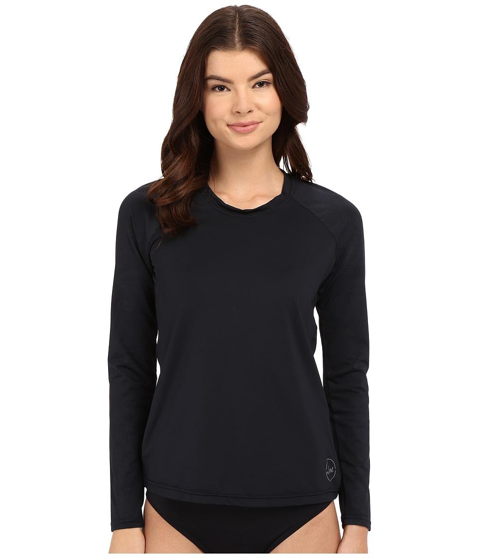 XCEL Wetsuits - Waimea Scoop Neck UV Long Sleeve (Black Print) Women's Swimwear