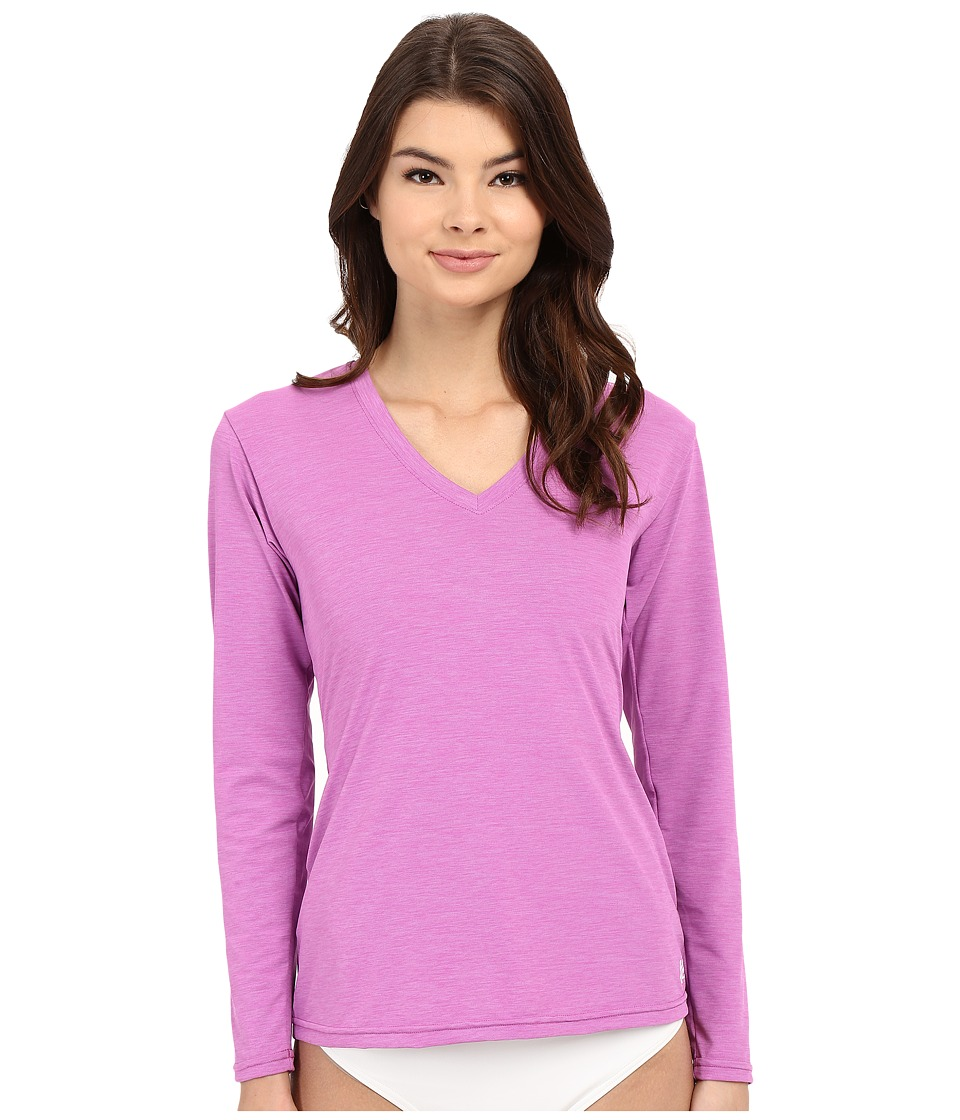 XCEL Wetsuits - Pupukea V-Neck UV Long Sleeve (Heather Rose Violet) Women's Swimwear