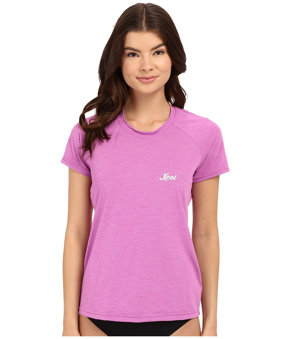 XCEL Wetsuits - Laniakea Scoop Neck UV Short Sleeve (Heather Rose Violet) Women's Swimwear