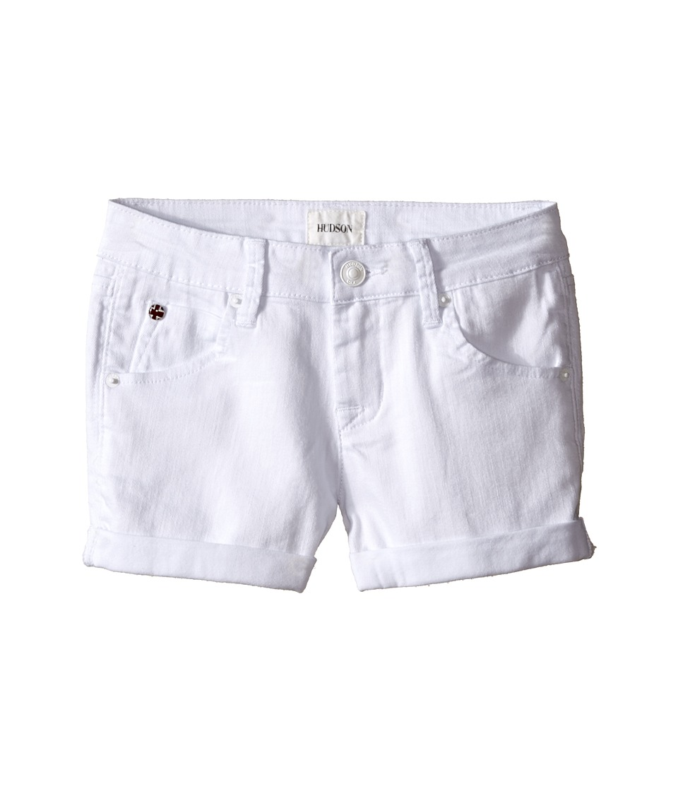 Hudson Kids - 2 1/2 Roll Shorts in White (Big Kids) (White) Girl's Shorts