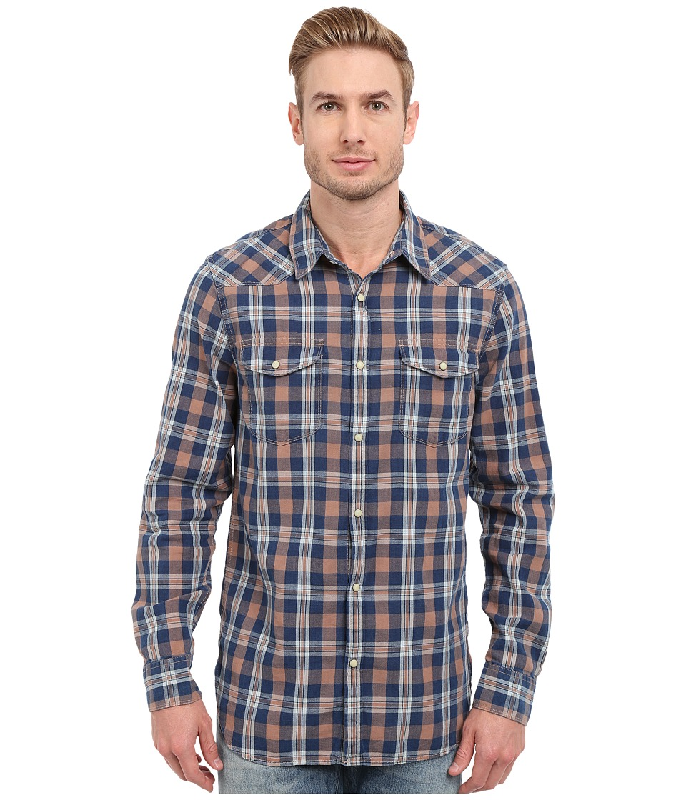 Lucky Brand - Indigo Santa Fe Western (Blue Peach) Men's Clothing
