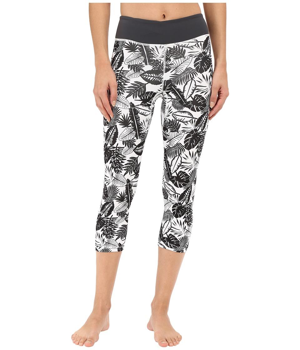 XCEL Wetsuits - Wailea 8oz UV Sport Capris (White Print/Gunmetal) Women's Capri