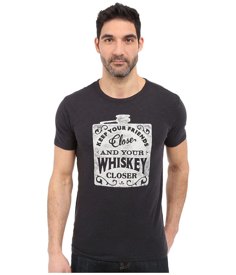Lucky Brand - Whiskey Flask Graphic Tee (Jet Black) Men's T Shirt