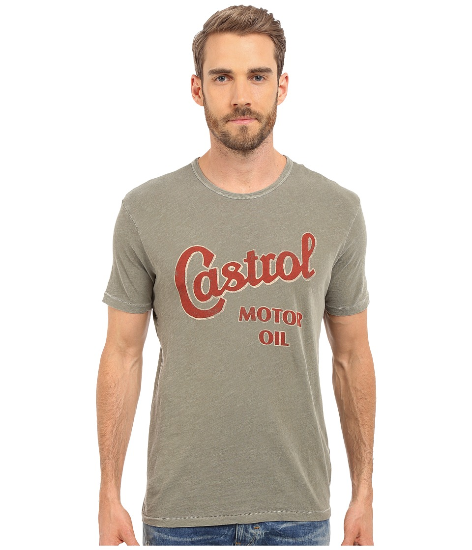 Lucky Brand - Castrol Motor Oil Graphic Tee (Burnt Olive) Men's T Shirt
