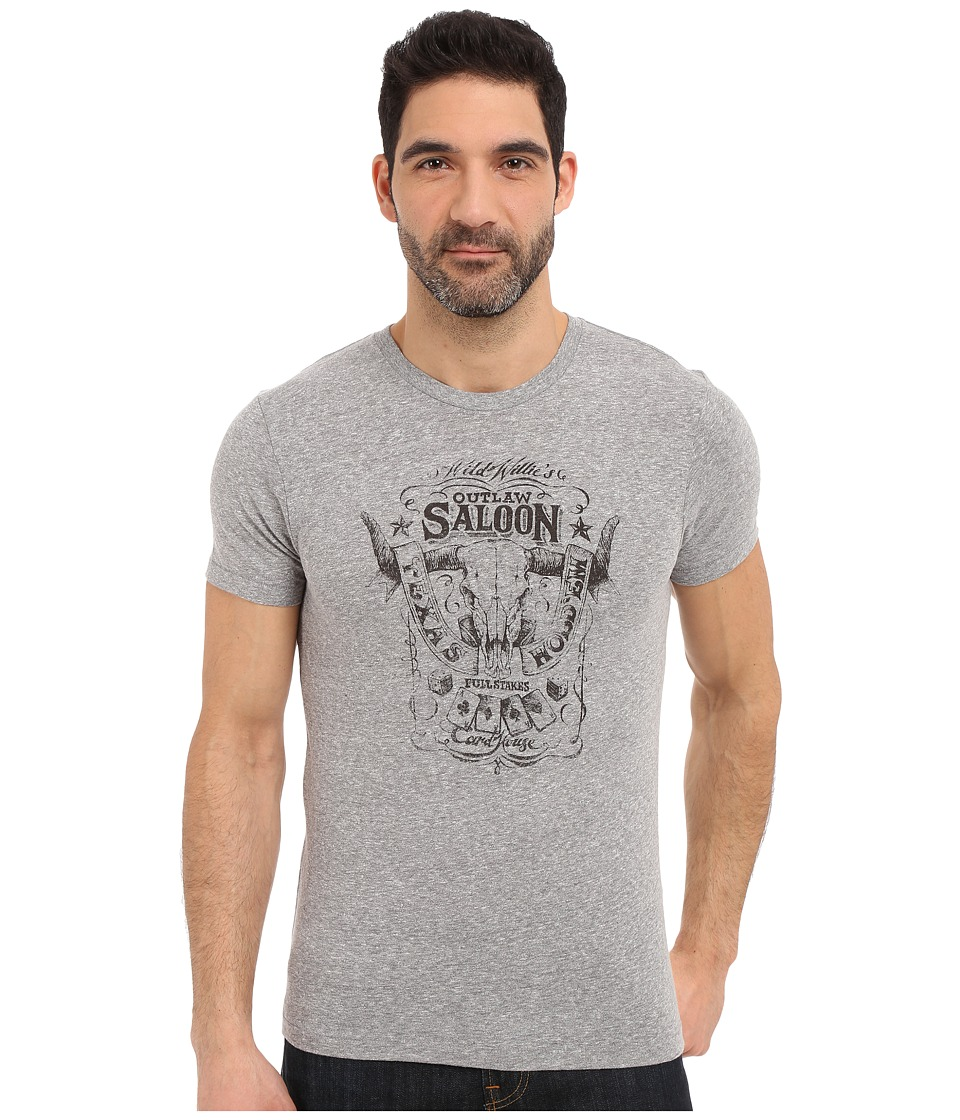 Lucky Brand - Outlaw Saloon Graphic Tee (Quiet Shade) Men's Short Sleeve Pullover