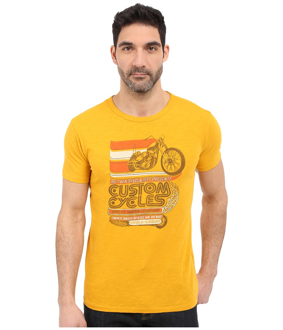 Lucky Brand - Custom Cycles Graphic Tee (Golden Yellow) Men's T Shirt