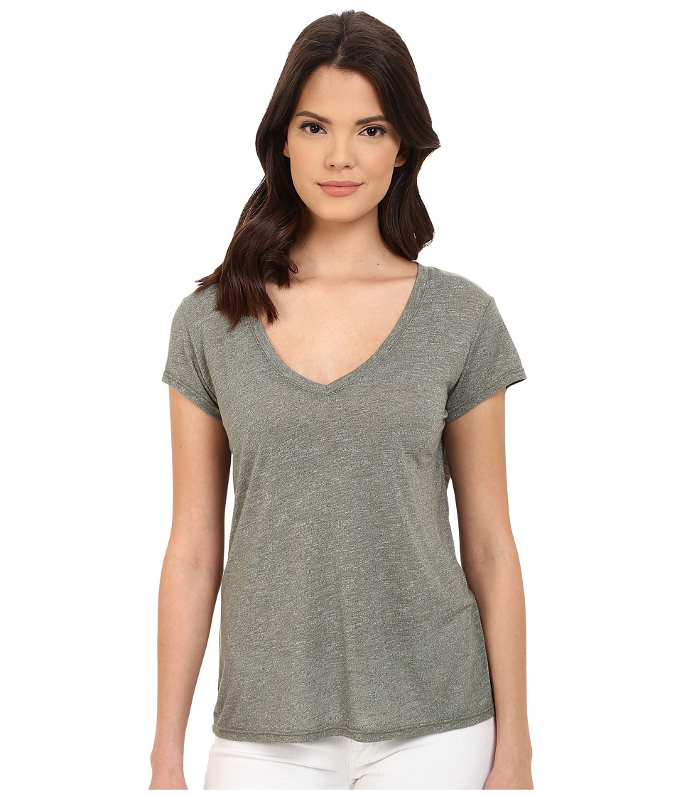 Michael Stars - Brooklyn Jersey Short Sleeve V-Neck (Olive Moss) Women's Clothing