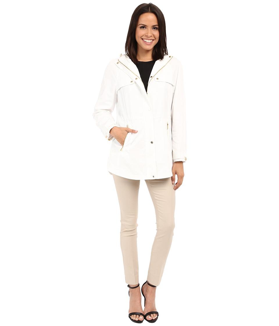 Calvin Klein - Anorak w/ Drawstring Waist (Soft White) Women's Coat