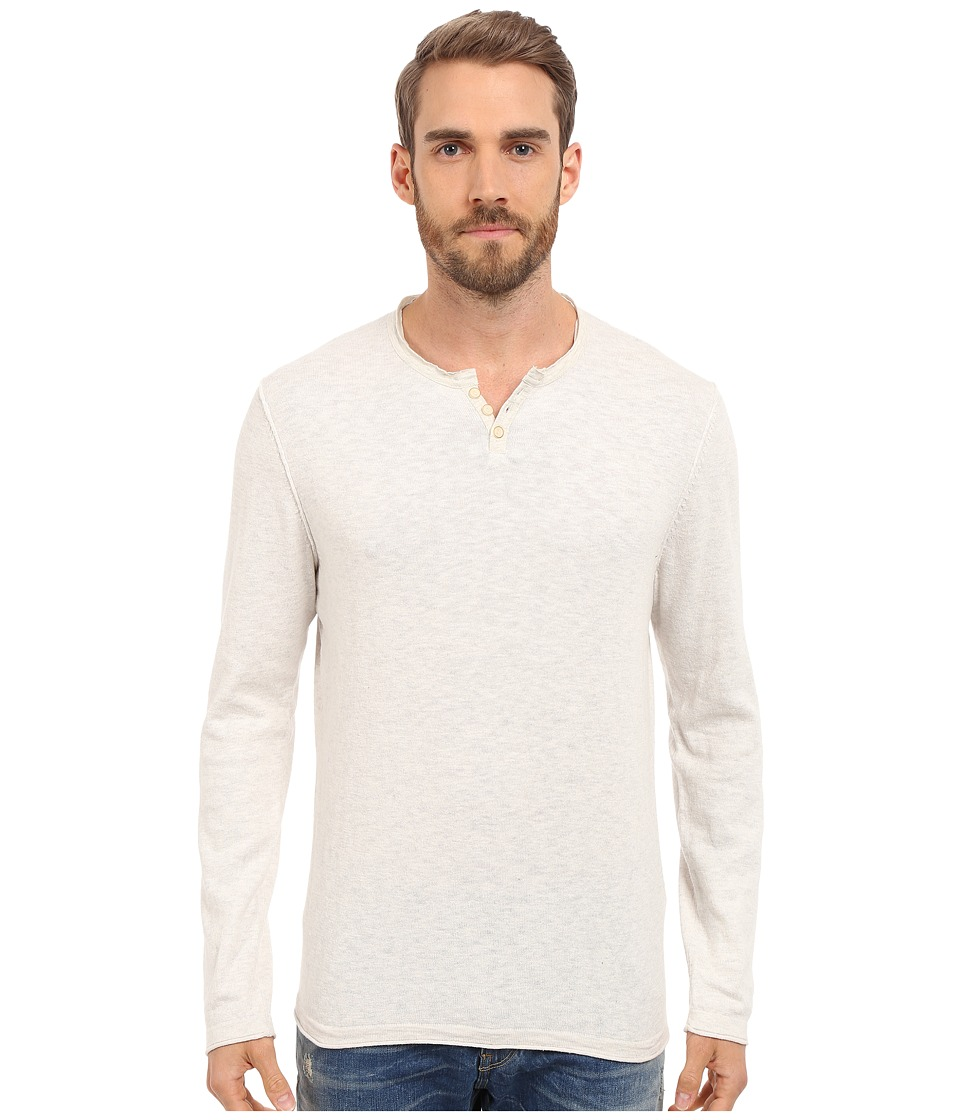 Lucky Brand - Notch Neck Tee (Cream) Men's T Shirt