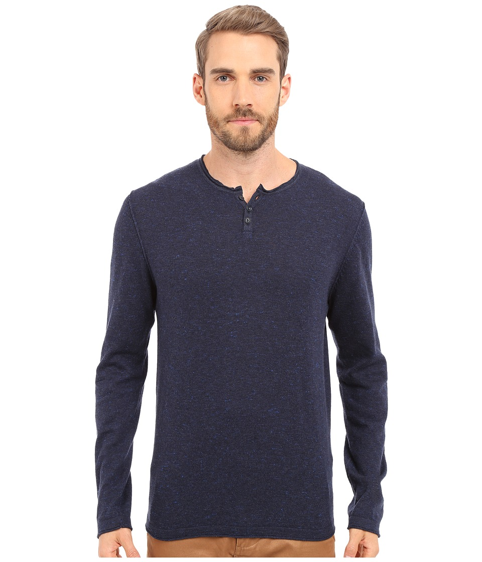 Lucky Brand - Notch Neck Tee (Navy) Men's T Shirt