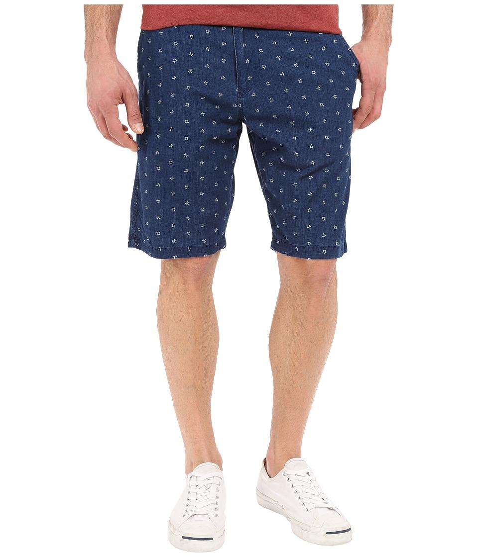 Lucky Brand - Indigo Print Flat Front (Real Indigo) Men's Shorts