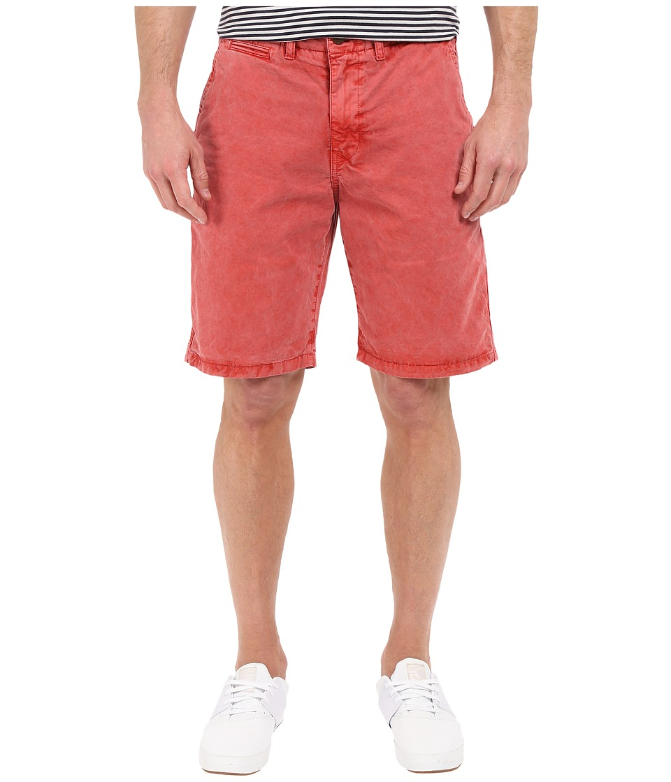 Lucky Brand - Utility Plain Front Shorts (Mineral Red) Men's Shorts