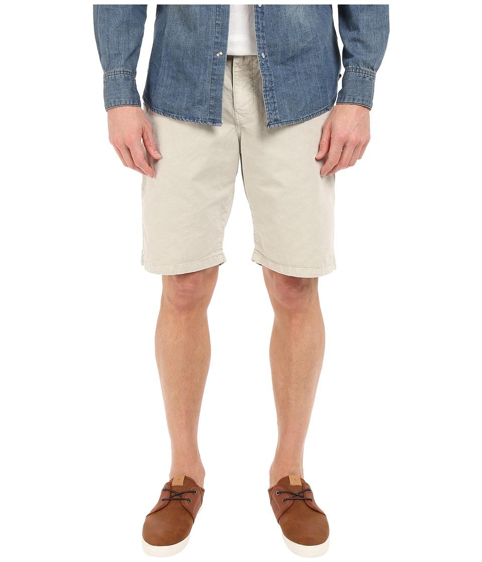 Lucky Brand Utility Plain Front Shorts (Silver Birch) Men