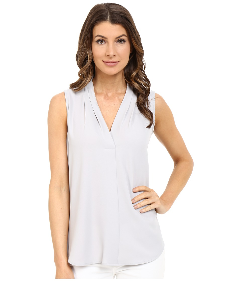 Calvin Klein - Sleeveless Blouse w/ Invert Pleat (Dove) Women's Sleeveless