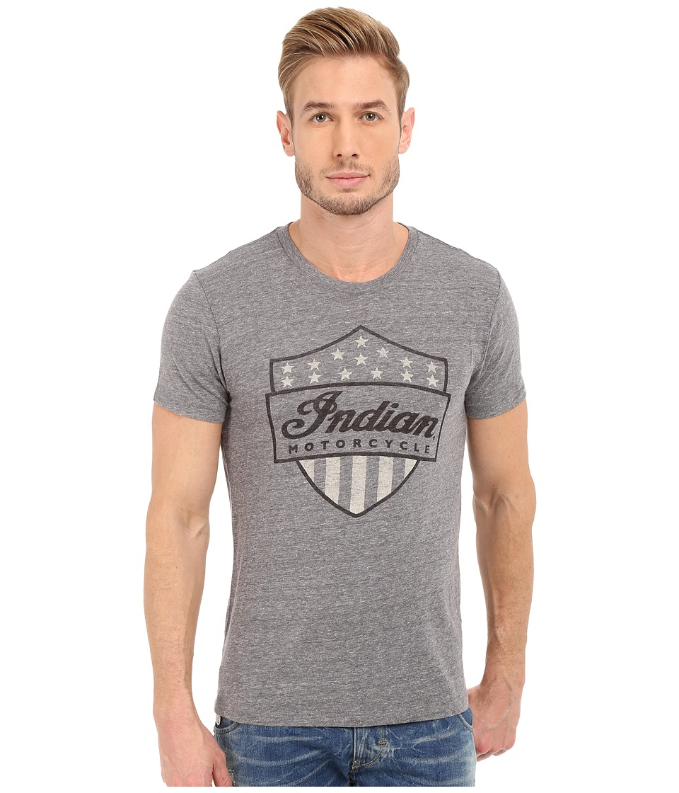 Lucky Brand - Indian Shield Graphic Tee (Grey) Men's T Shirt
