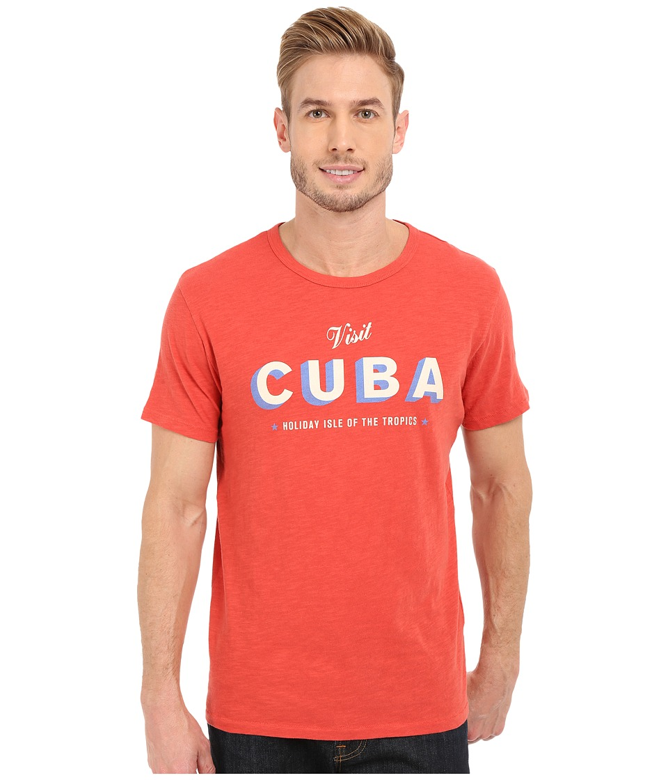 Lucky Brand - Visit Cuba Graphic Tee (Baked Apple) Men's T Shirt