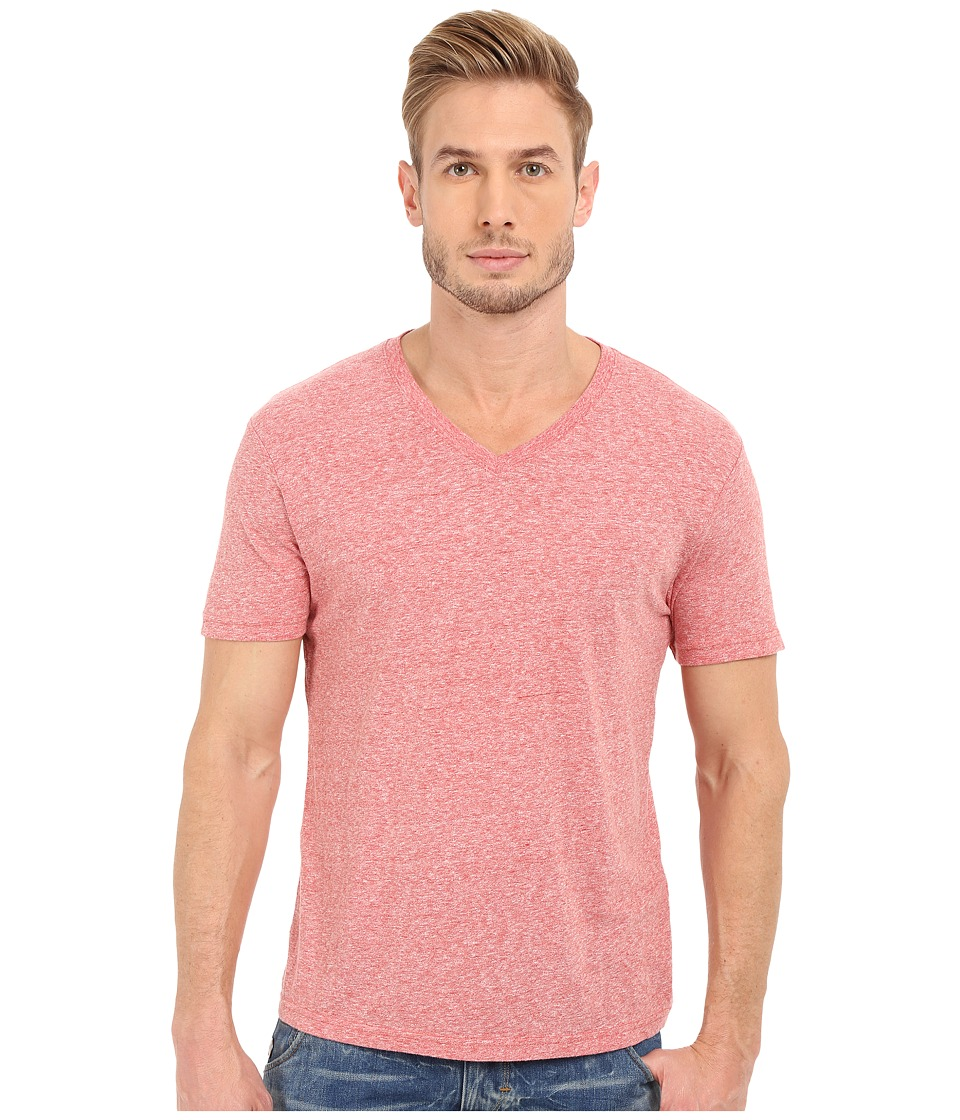 Lucky Brand - V-Neck Tee (Pompeian Red) Men's T Shirt