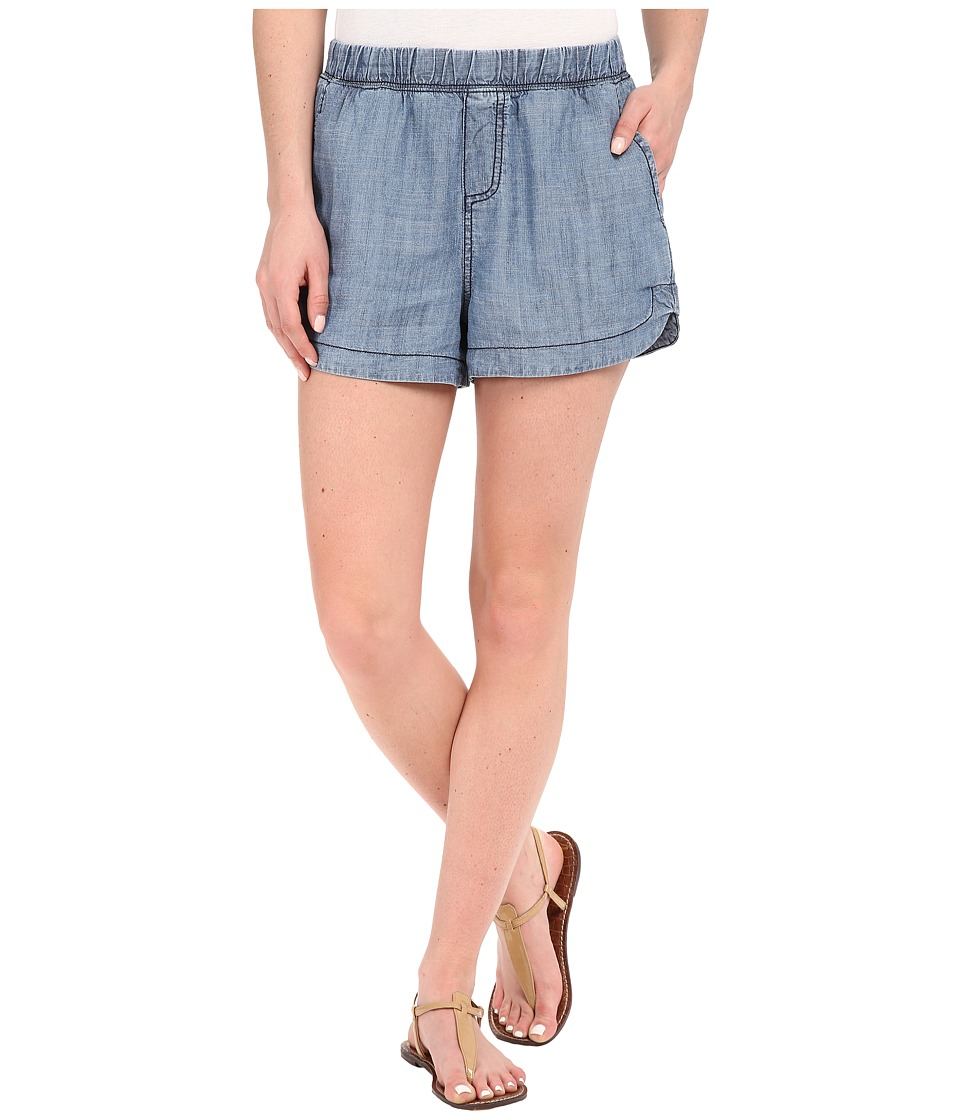 Michael Stars - Linen Denim Tencel Shorts (Medium Wash) Women's Shorts
