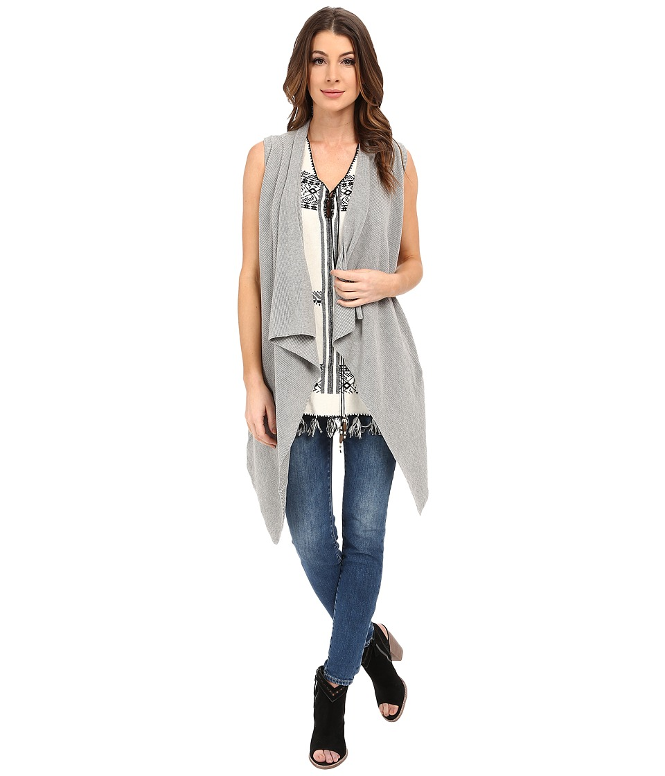 Dylan by True Grit - Long Drape Sweater Vest (Heather) Women's Sweater