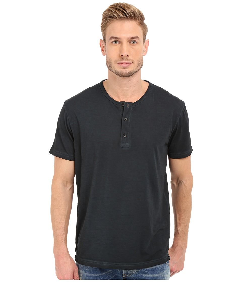Lucky Brand - Short Sleeve Henley (Jet Black) Men's T Shirt