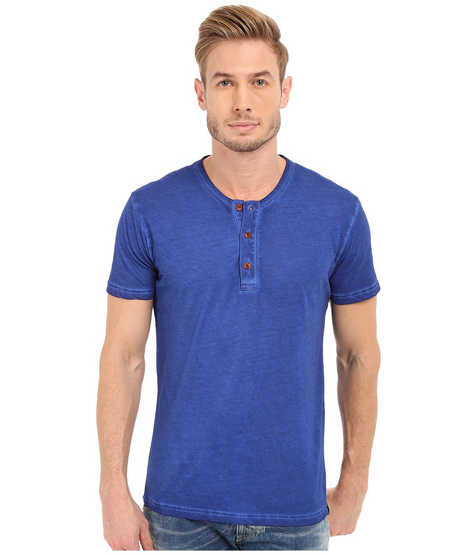 Lucky Brand - Short Sleeve Henley (Sodalite Blue) Men's T Shirt