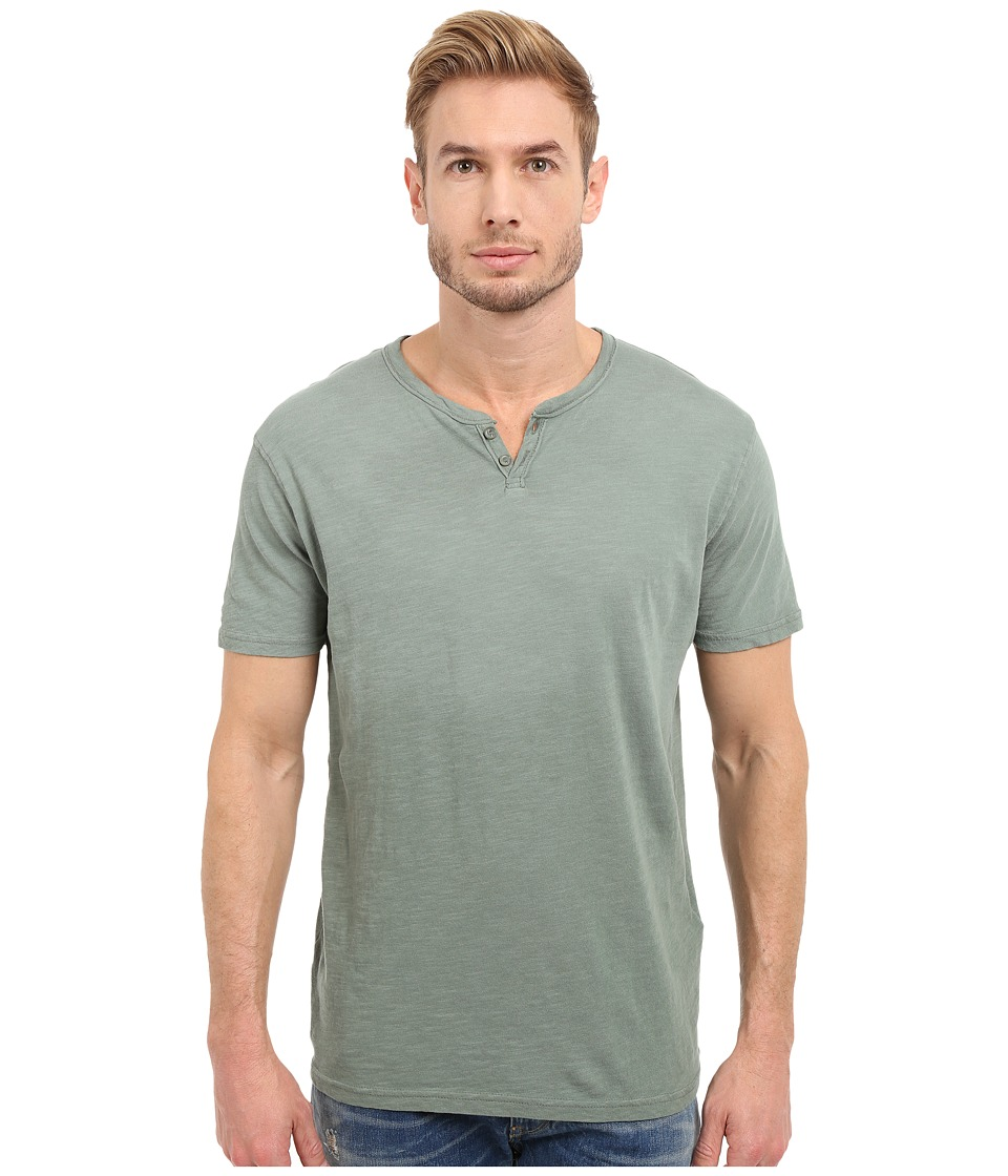 Lucky Brand - Button Notch Top (Laurel Wreath) Men's Short Sleeve Pullover