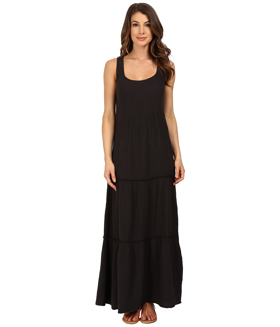 Dylan by True Grit - Soft Gauzy Cotton Tiered Tank Maxi Dress (Vintage Black) Women's Dress