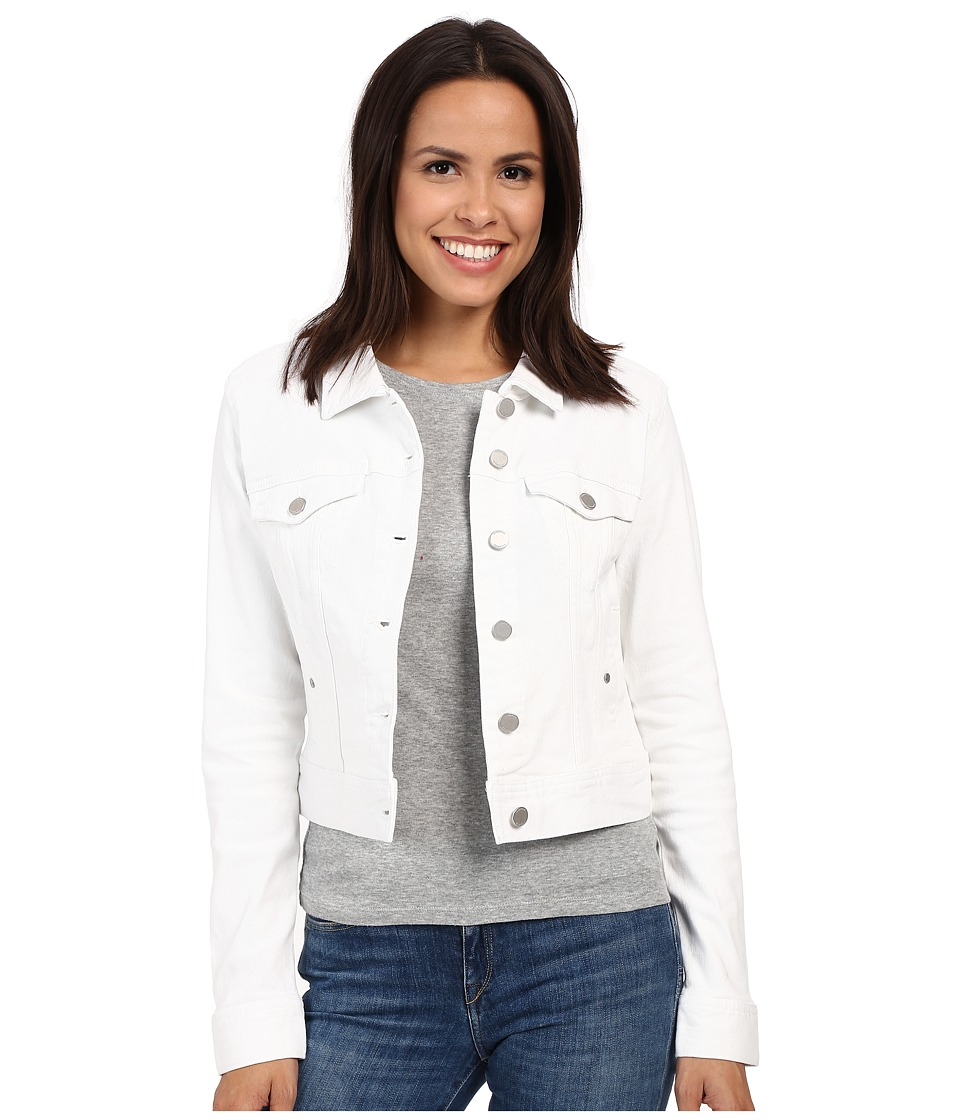 Liverpool - Cropped Denim Jacket (Bright White) Women's Coat