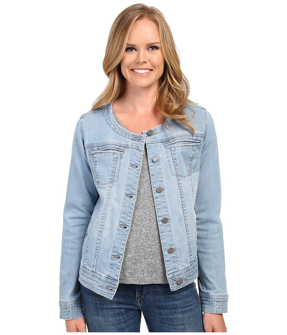 Liverpool - Denim Collarless Lightweight Jean Jacket (Belmont Beach Blue) Women's Coat