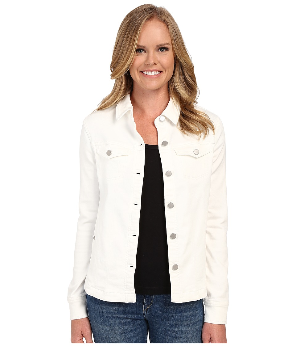 Liverpool - Denim Shirt Jacket (White) Women's Coat