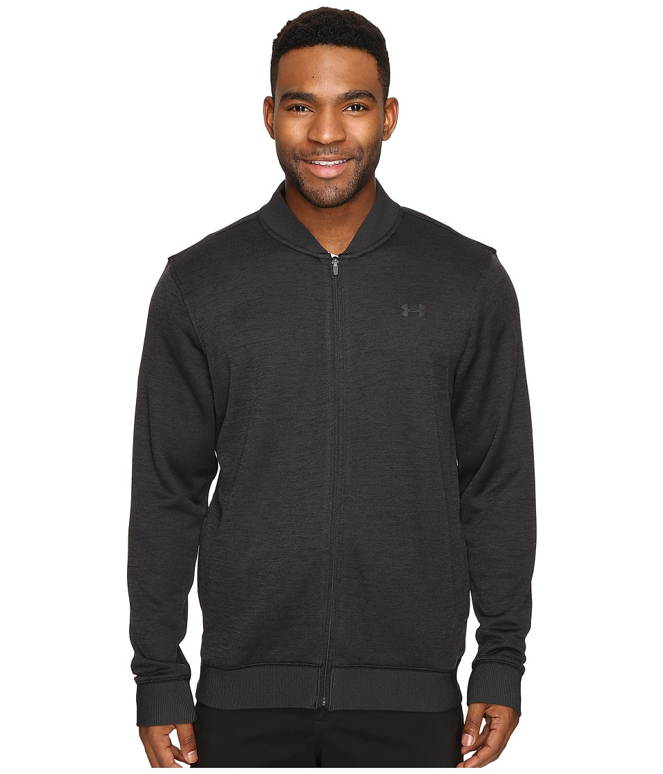 Under Armour Golf - UA Storm Sweaterfleece Full Zip (Asphalt Heather/Asphalt Heather/Black) Men's Fleece