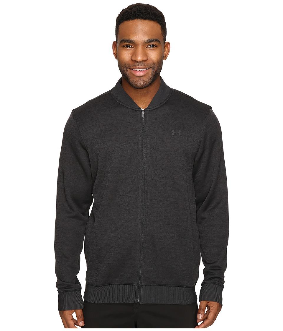 Under Armour Golf - UA Storm Sweaterfleece Full Zip (Asphalt Heather/Asphalt Heather/Black) Men's Fleece